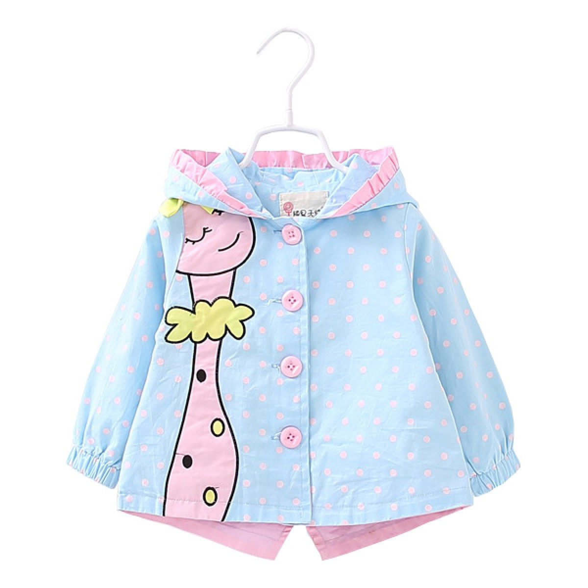 252254df4a6b Hooded cotton spring jacket for girls
